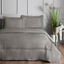 Cuvertura pat 2 persoane gri Aria Linens by TAC (DELUXE)